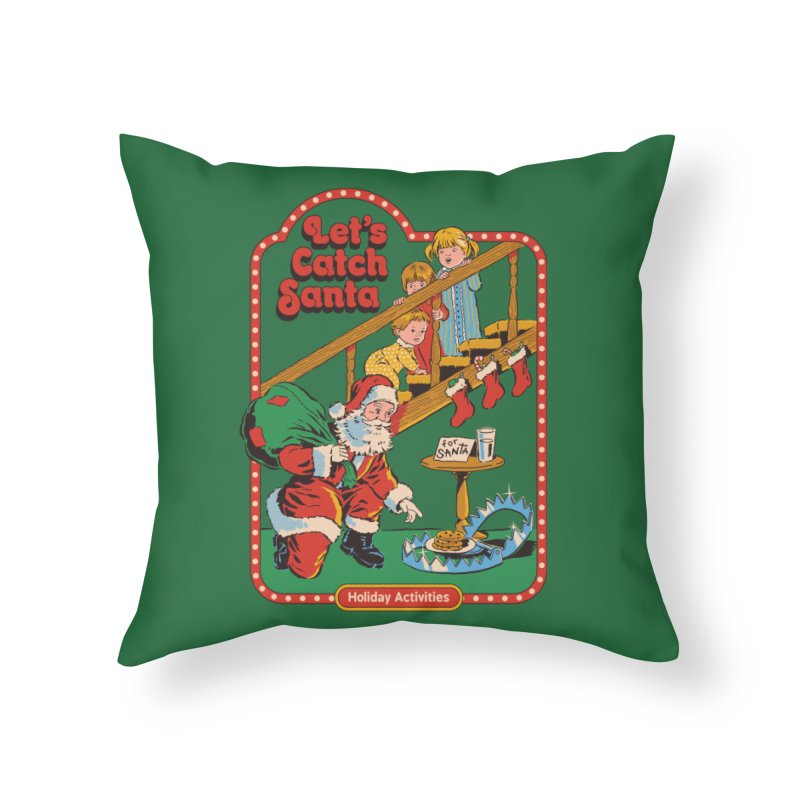 Let's Catch Santa Home Throw Pillow by Steven Rhodes