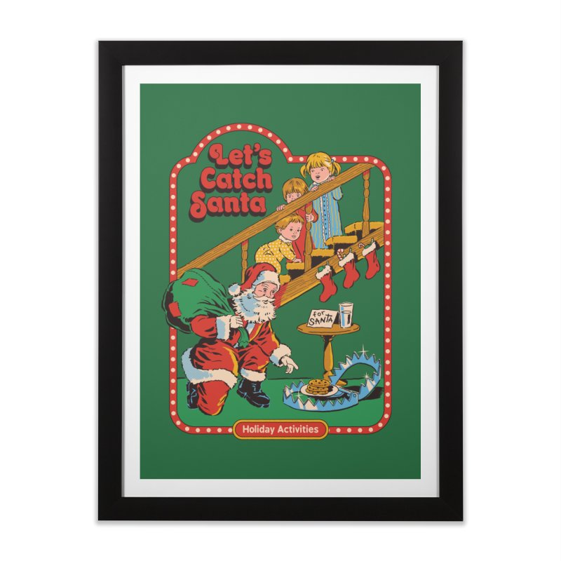 Let's Catch Santa Home Framed Fine Art Print by Steven Rhodes