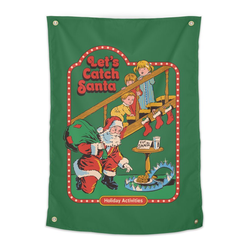 Let's Catch Santa Home Tapestry by Steven Rhodes