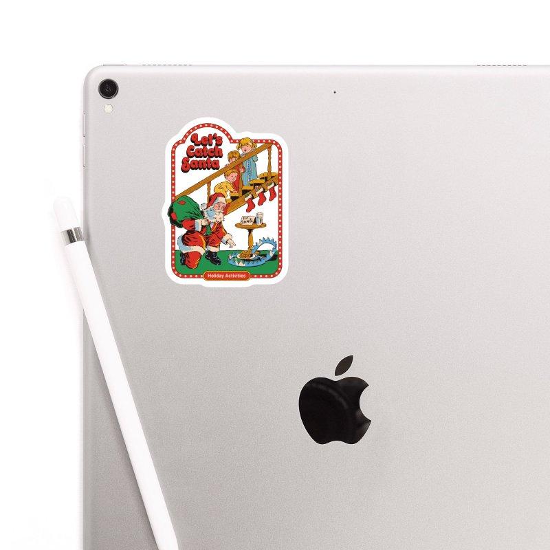 Let's Catch Santa Accessories Sticker by Steven Rhodes