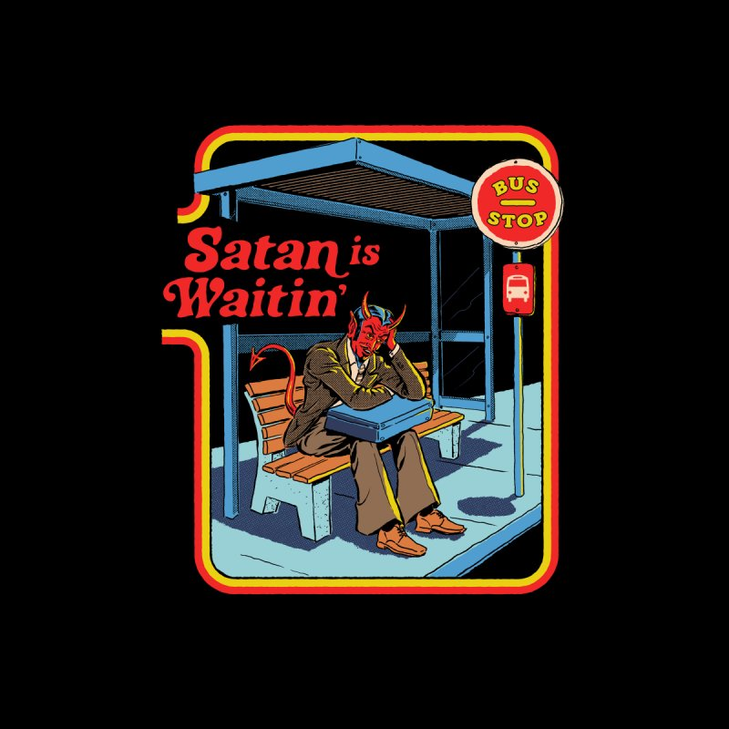 Satan is Waitin' Home Throw Pillow by Steven Rhodes