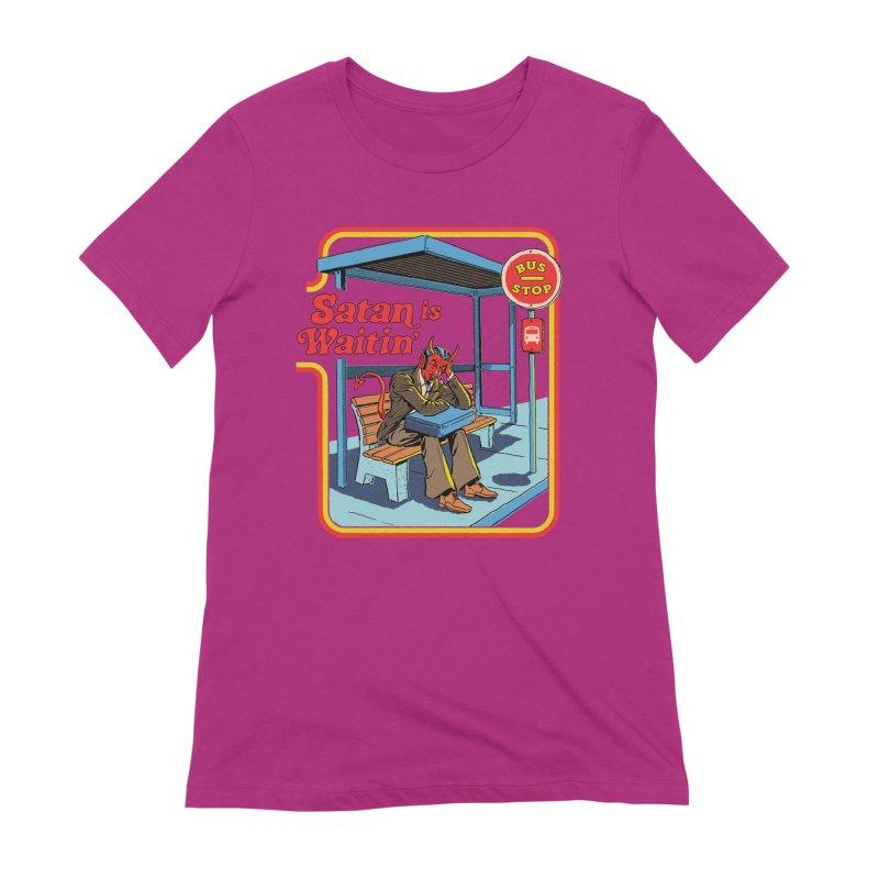 Satan is Waitin' Women's Extra Soft T-Shirt by Steven Rhodes