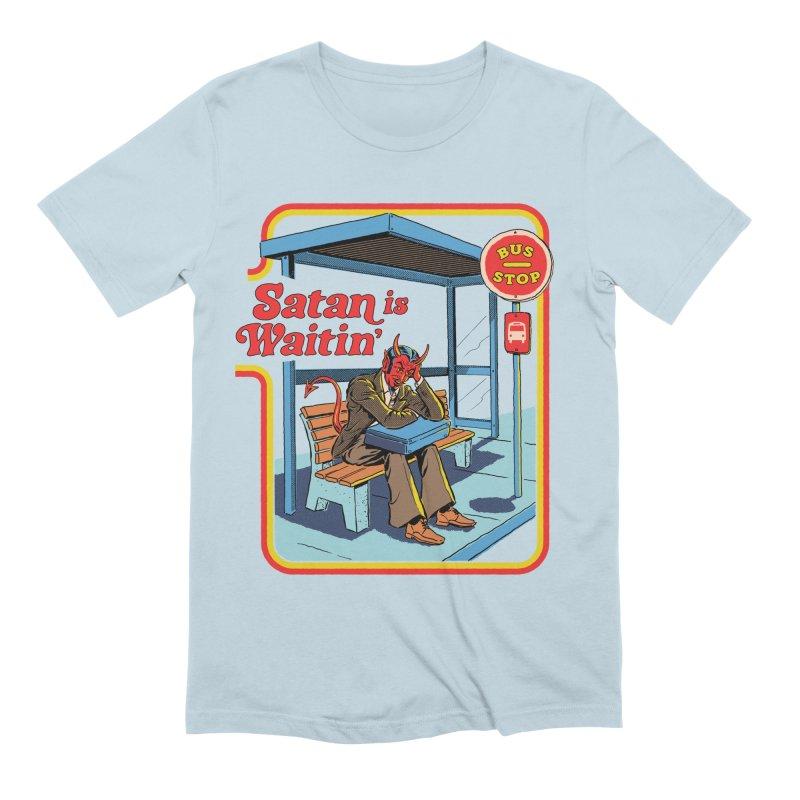 Satan is Waitin' Men's Extra Soft T-Shirt by Steven Rhodes