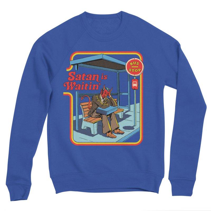 Satan is Waitin' Men's Sponge Fleece Sweatshirt by Steven Rhodes