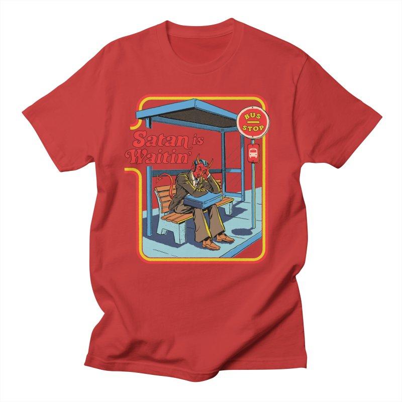 Satan is Waitin' Men's Regular T-Shirt by Steven Rhodes