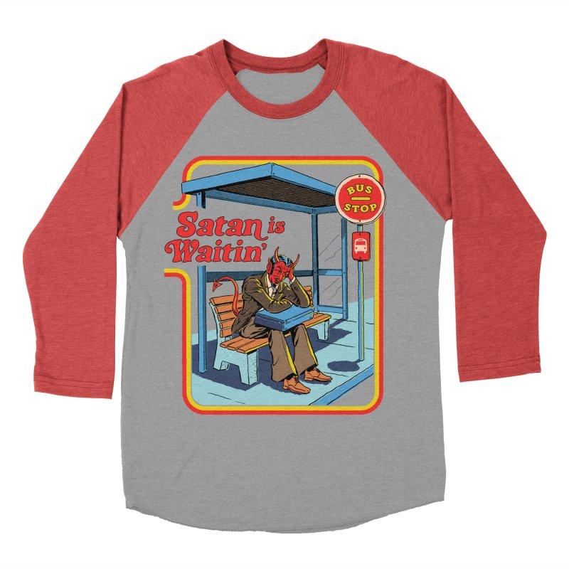 Satan is Waitin' Women's Baseball Triblend Longsleeve T-Shirt by Steven Rhodes