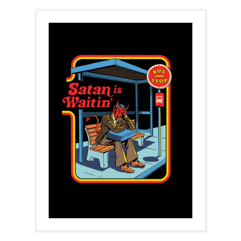 Satan is Waitin' Home Fine Art Print by Steven Rhodes