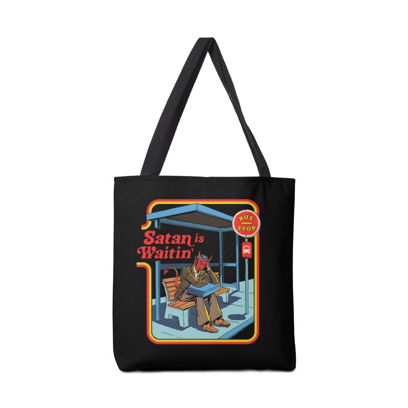 Satan is Waitin' Accessories Tote Bag Bag by Steven Rhodes