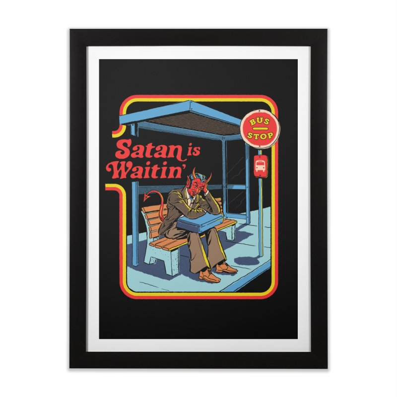 Satan is Waitin' Home Framed Fine Art Print by Steven Rhodes