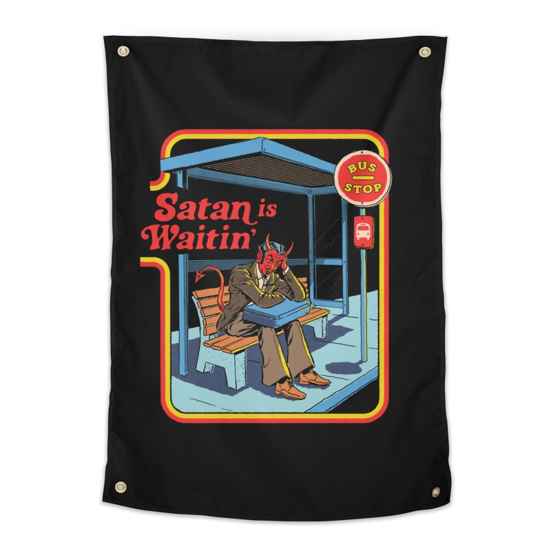 Satan is Waitin' Home Tapestry by Steven Rhodes