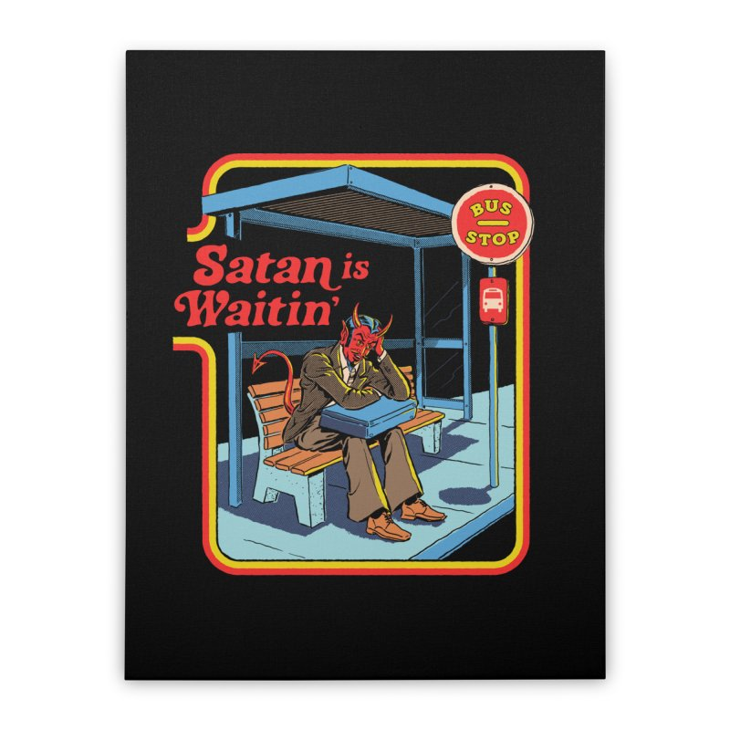 Satan is Waitin' Home Stretched Canvas by Steven Rhodes