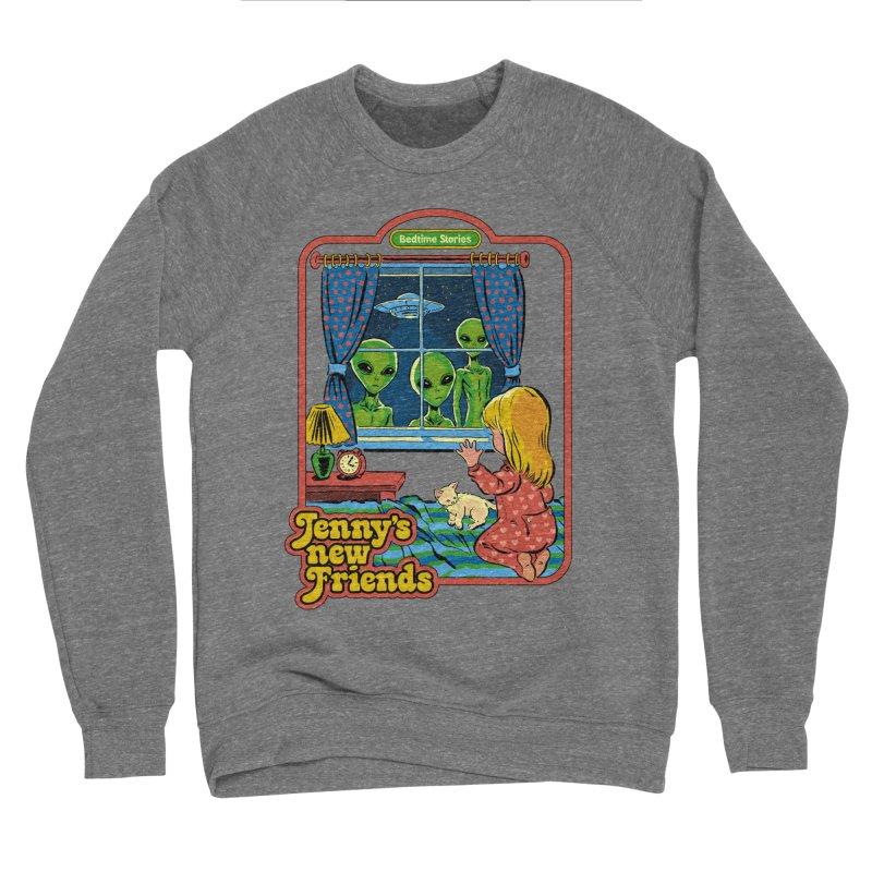 Jenny's New Friends Men's Sponge Fleece Sweatshirt by Steven Rhodes