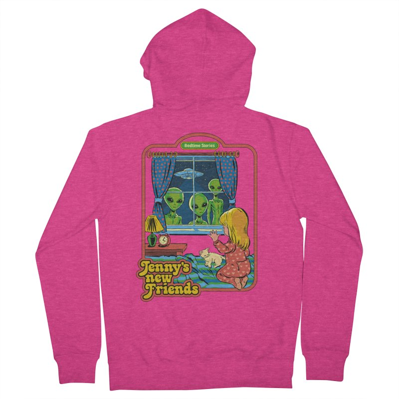 Jenny's New Friends Women's French Terry Zip-Up Hoody by Steven Rhodes