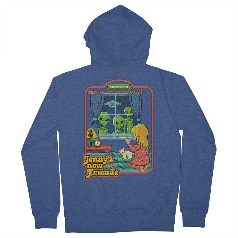 Jenny's New Friends Men's French Terry Zip-Up Hoody by Steven Rhodes