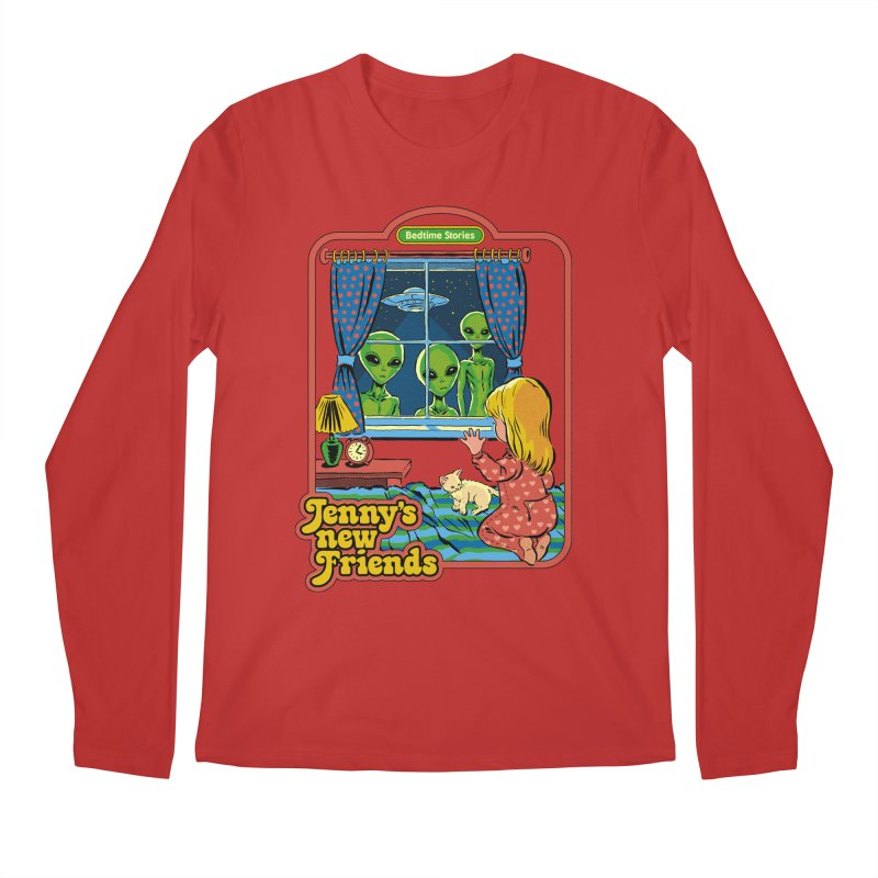 Jenny's New Friends Men's Regular Longsleeve T-Shirt by Steven Rhodes
