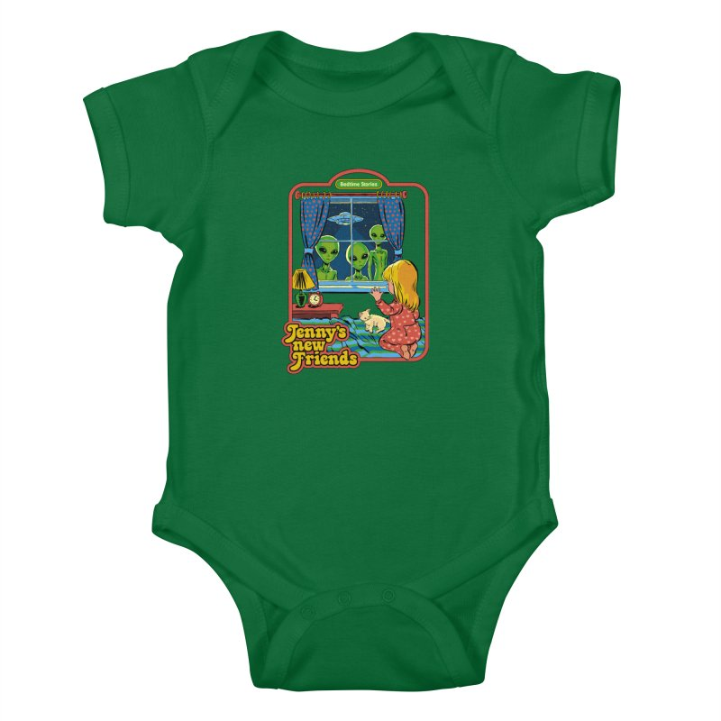Jenny's New Friends Kids Baby Bodysuit by Steven Rhodes