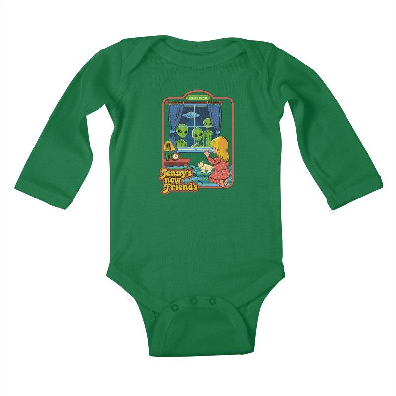Jenny's New Friends Kids Baby Longsleeve Bodysuit by Steven Rhodes