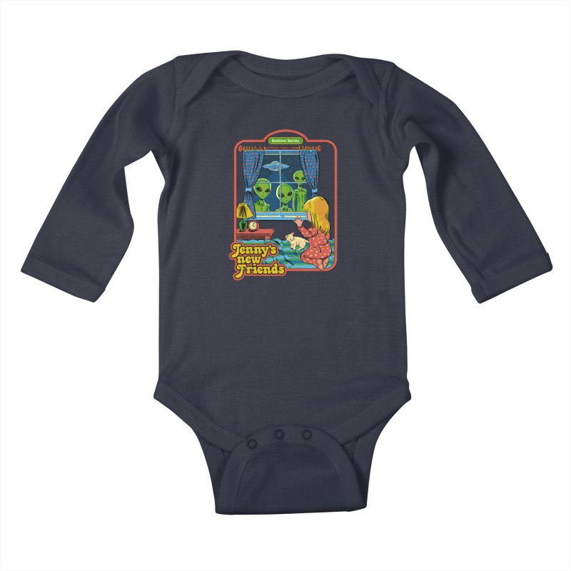 Jenny's New Friends Kids Baby Longsleeve Bodysuit by Steven Rhodes