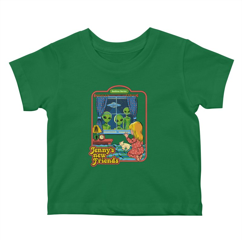 Jenny's New Friends Kids Baby T-Shirt by Steven Rhodes