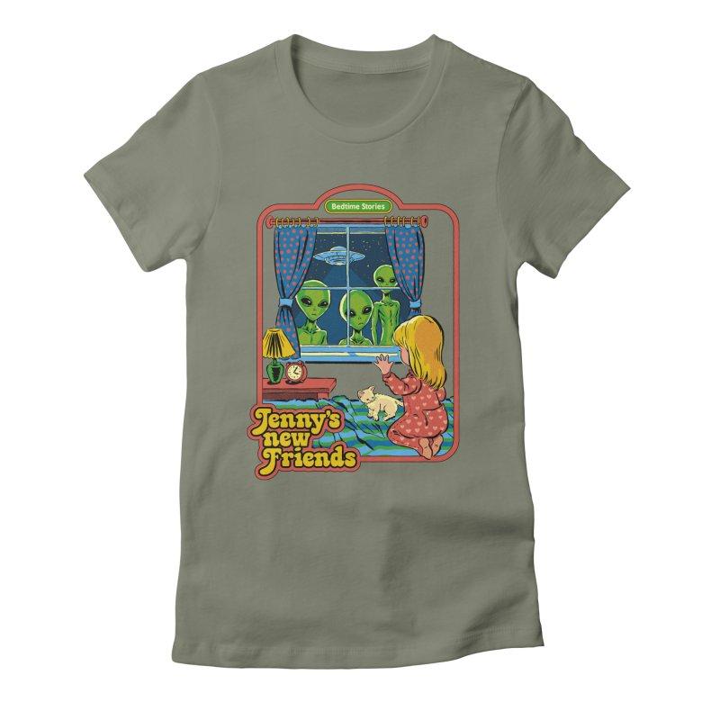 Jenny's New Friends Women's Fitted T-Shirt by Steven Rhodes