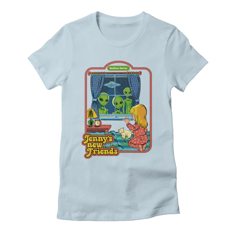 Jenny's New Friends Women's Fitted T-Shirt by Steven Rhodes