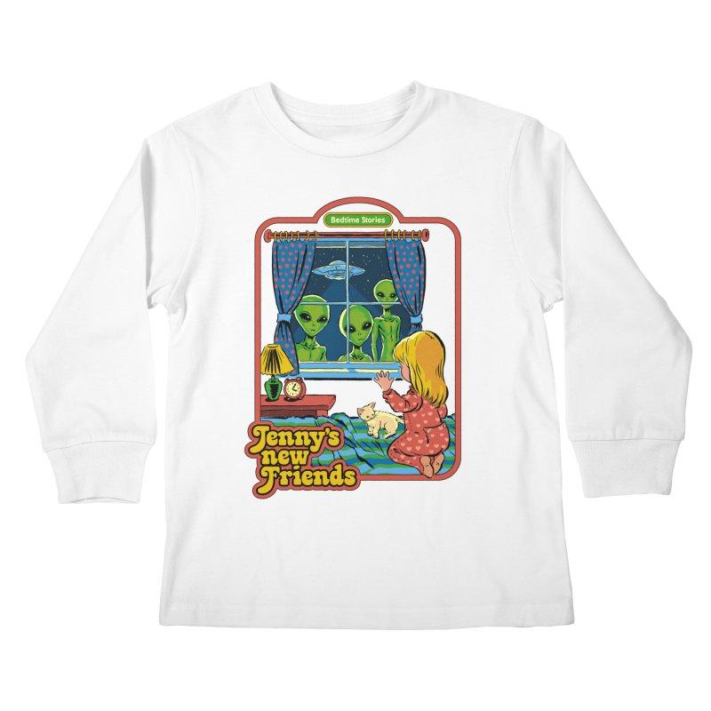 Jenny's New Friends Kids Longsleeve T-Shirt by Steven Rhodes