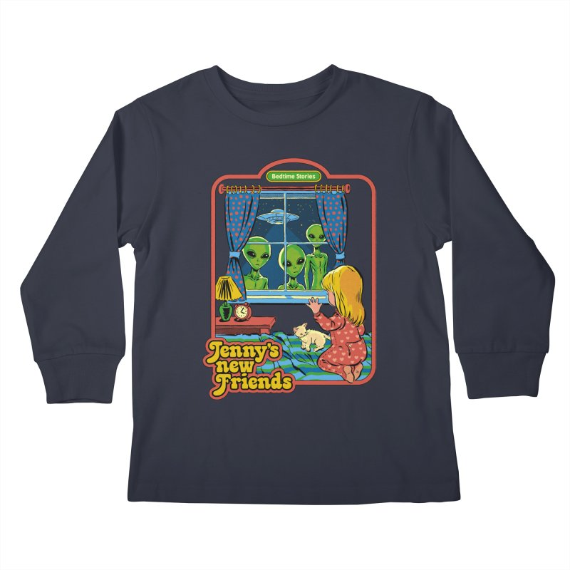 Jenny's New Friends Kids Longsleeve T-Shirt by Steven Rhodes