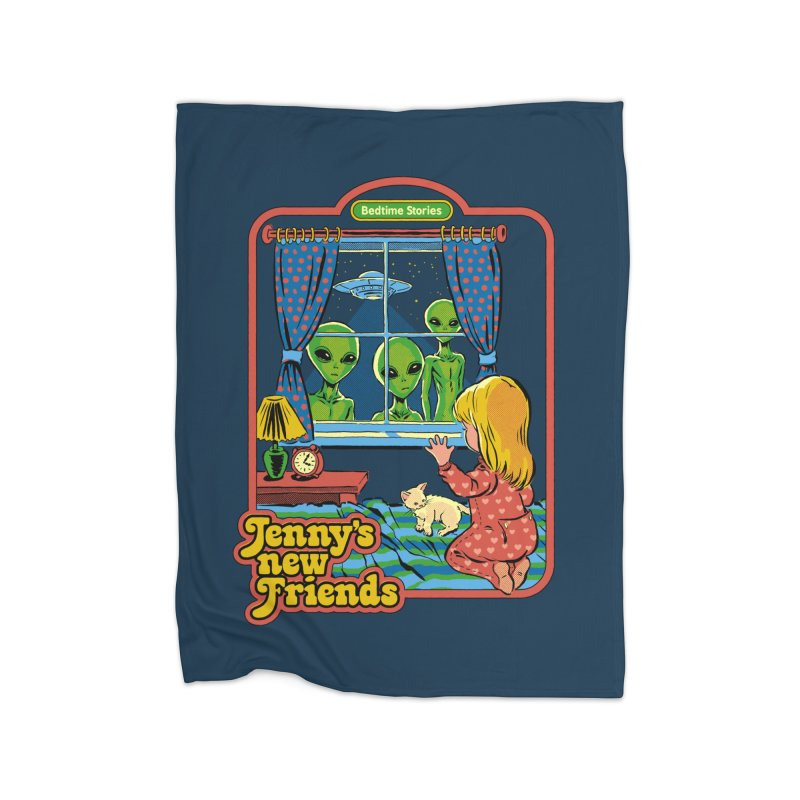 Jenny's New Friends Home Blanket by Steven Rhodes