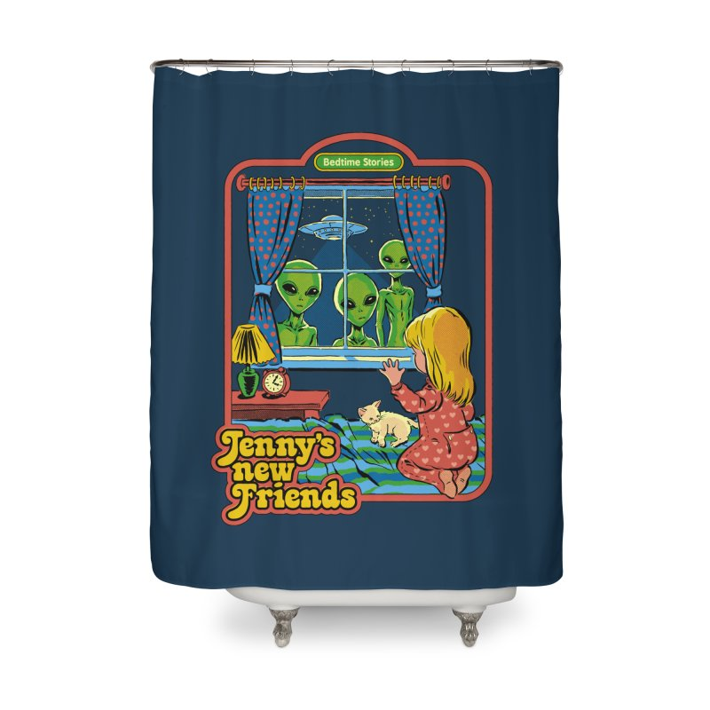 Jenny's New Friends Home Shower Curtain by Steven Rhodes