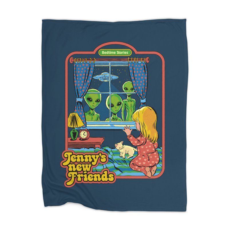 Jenny's New Friends Home Blanket by Steven Rhodes