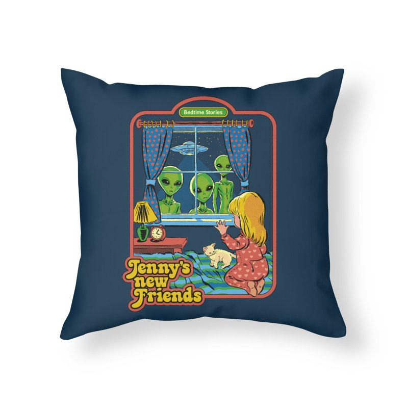 Jenny's New Friends Home Throw Pillow by Steven Rhodes