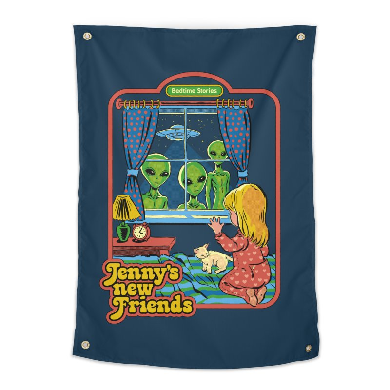 Jenny's New Friends Home Tapestry by Steven Rhodes