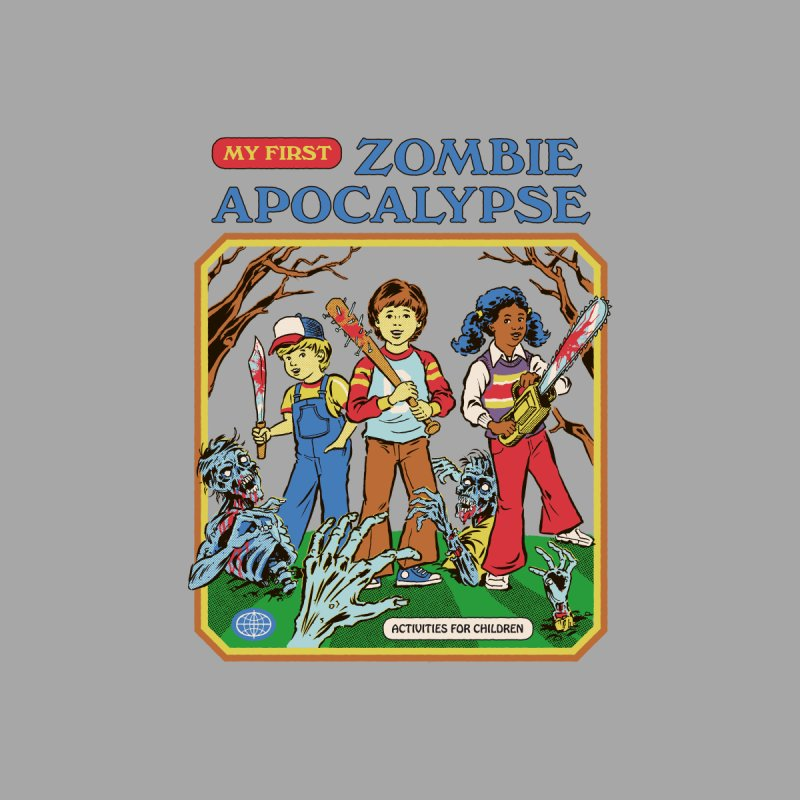 My First Zombie Apocalypse Accessories Sticker by Steven Rhodes