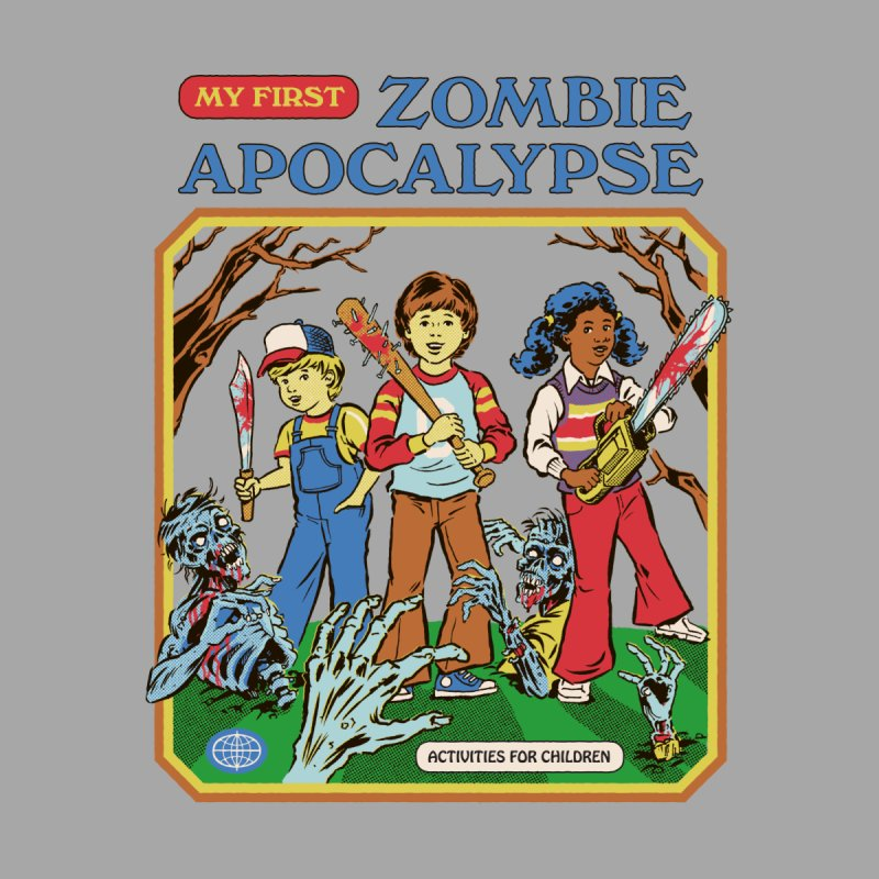 My First Zombie Apocalypse Kids Longsleeve T-Shirt by Steven Rhodes