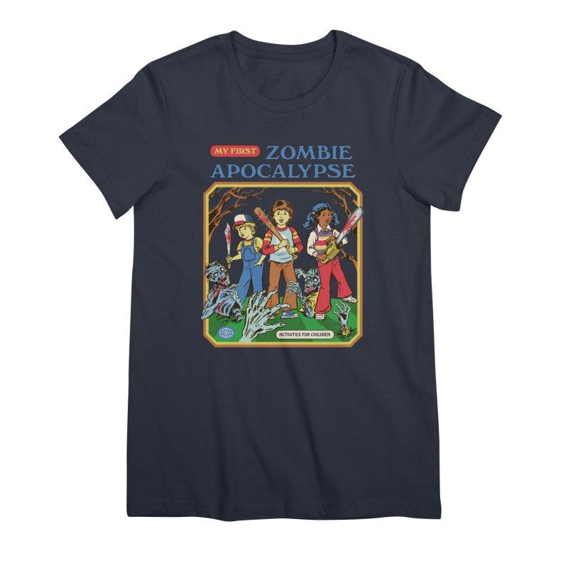 My First Zombie Apocalypse Women's Premium T-Shirt by Steven Rhodes