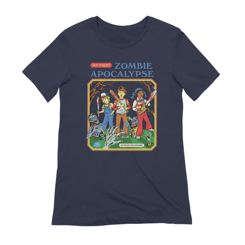 My First Zombie Apocalypse Women's Extra Soft T-Shirt by Steven Rhodes