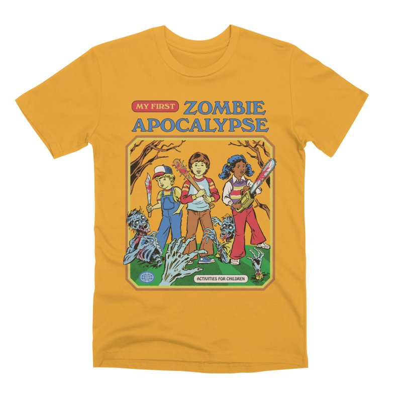 My First Zombie Apocalypse Men's Premium T-Shirt by Steven Rhodes