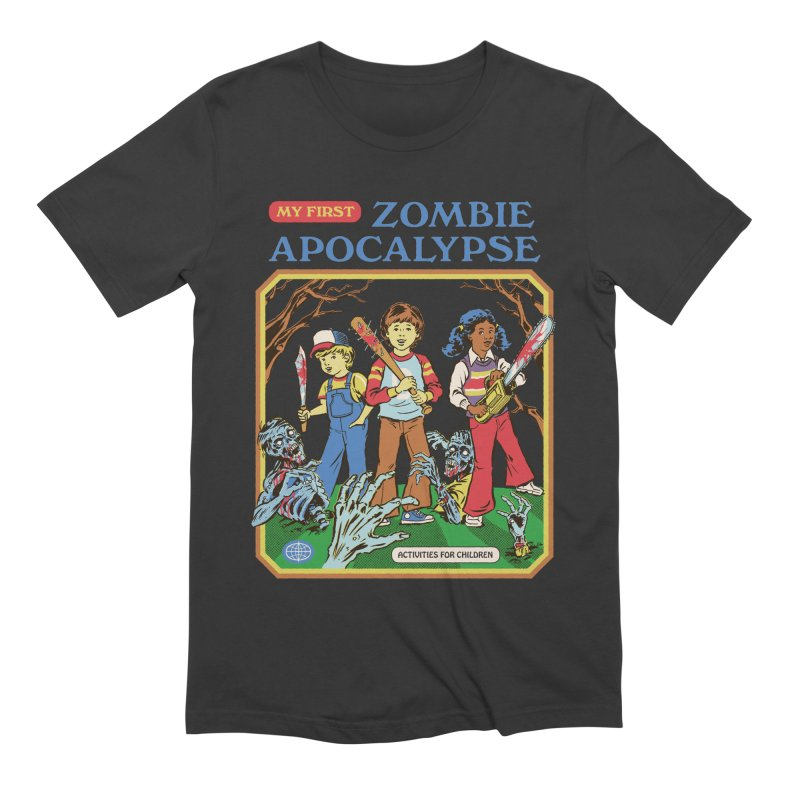 My First Zombie Apocalypse Men's Extra Soft T-Shirt by Steven Rhodes