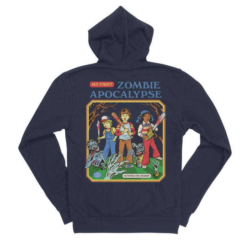 My First Zombie Apocalypse Men's Sponge Fleece Zip-Up Hoody by Steven Rhodes