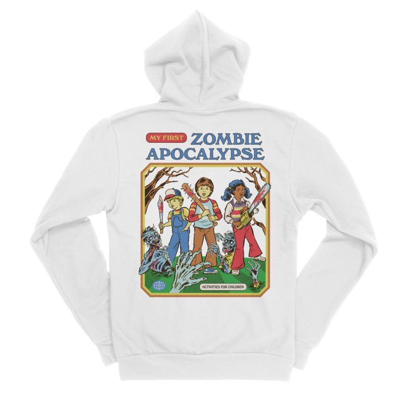 My First Zombie Apocalypse Women's Sponge Fleece Zip-Up Hoody by Steven Rhodes