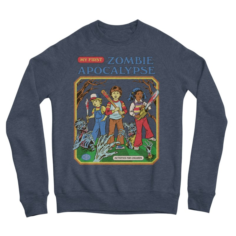 My First Zombie Apocalypse Women's Sponge Fleece Sweatshirt by Steven Rhodes