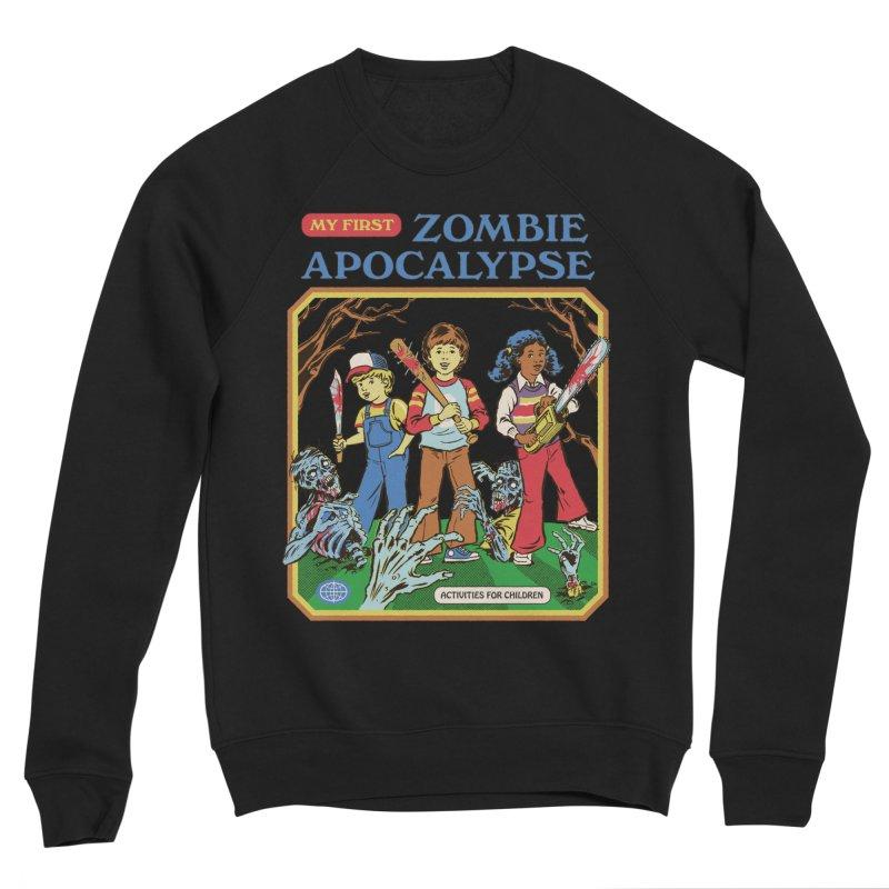 My First Zombie Apocalypse Women's Sponge Fleece Sweatshirt by Steven Rhodes