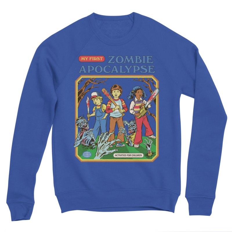My First Zombie Apocalypse Men's Sponge Fleece Sweatshirt by Steven Rhodes