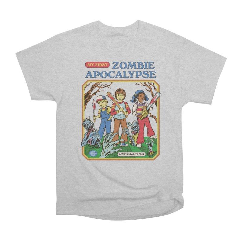 My First Zombie Apocalypse Women's Heavyweight Unisex T-Shirt by Steven Rhodes