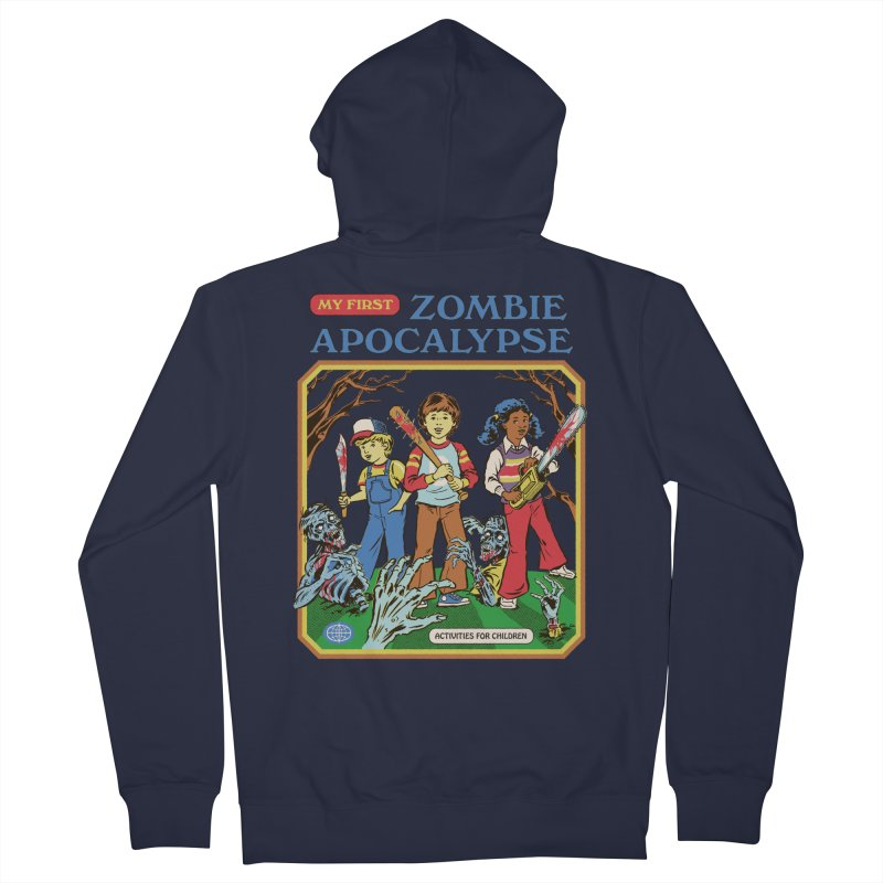 My First Zombie Apocalypse Women's French Terry Zip-Up Hoody by Steven Rhodes