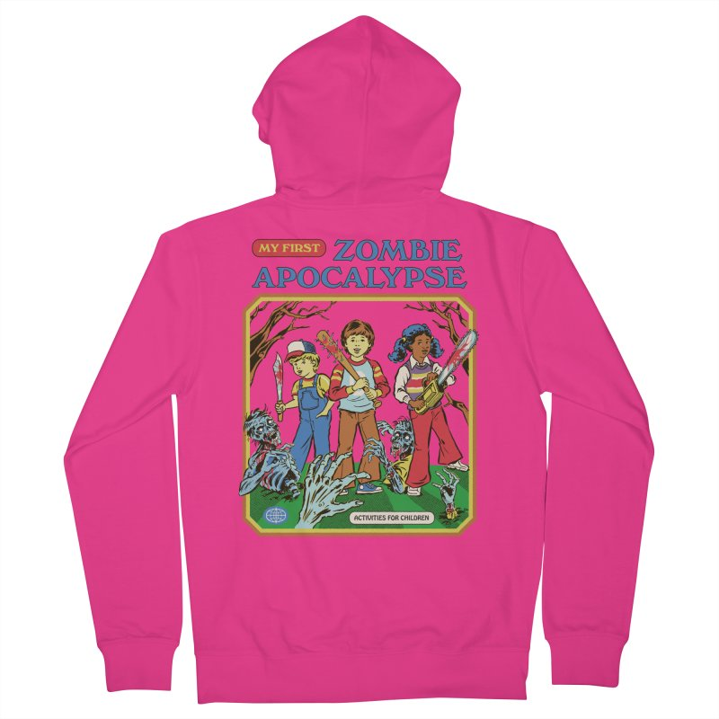 My First Zombie Apocalypse Men's French Terry Zip-Up Hoody by Steven Rhodes