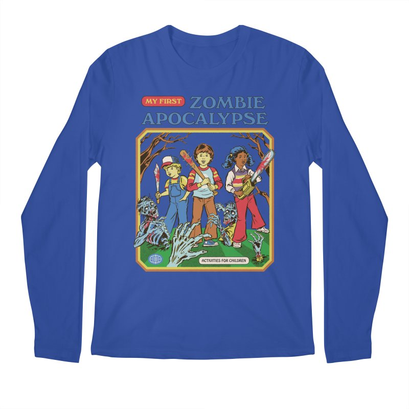 My First Zombie Apocalypse Men's Regular Longsleeve T-Shirt by Steven Rhodes