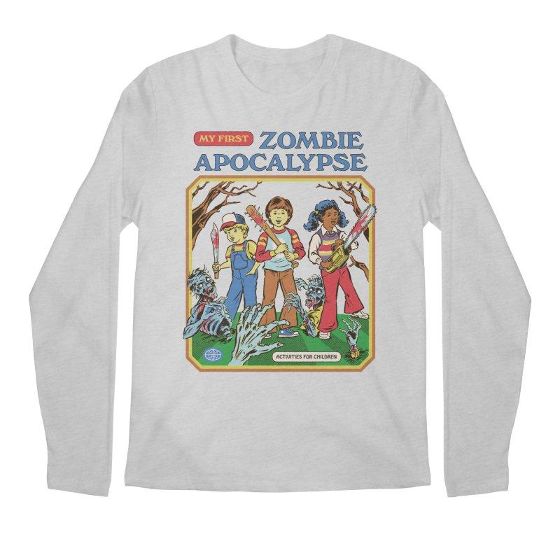 My First Zombie Apocalypse Men's Regular Longsleeve T-Shirt by Steven Rhodes
