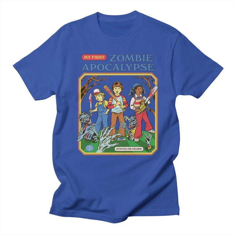 My First Zombie Apocalypse Men's Regular T-Shirt by Steven Rhodes