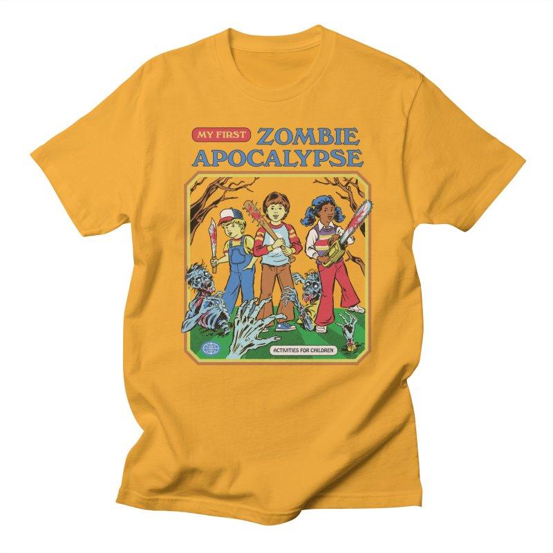 My First Zombie Apocalypse Women's Regular Unisex T-Shirt by Steven Rhodes